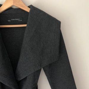 ZARA Gray Belted Jacket